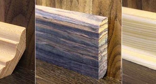 формы плинтуса из дерева